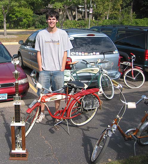 1956 B.F.Goodrich Schwinn Hornet Bicycle with trophy